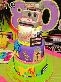 Totally 80's Birthday Cake