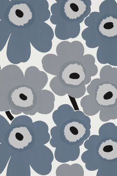 Fall in love with Marimekko - fabric, wallpaper, bedding and cushions - as House & Garden shows you where to shop for Marimekko's Scandinavian design in the UK Marimekko Wallpaper, Marimekko Fabric, Pattern Wallpaper, Fabric Wallpaper, Design Textile, Fabric Design, Pattern Design, Motifs Textiles, Textile Patterns