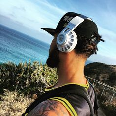 Out watching surfers in Malibu with my JBL headphones @jblaudio honestly the best sounding headphones I've ever listened to