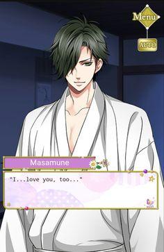 "Masamune: ""I...love you, too..."" #SamuraiLoveBalladParty #StoryEvent #Epilogue #ClaimMeAtLastMyNobleLove"