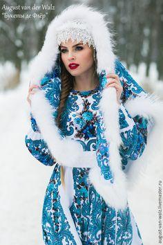 """Купить """"Русский Стиль"""" Платье из платков - разноцветный, цветочный, платье из платка, павлопосадские узоры"""