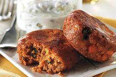 Tandoori Salmon Cakes With Raita