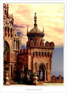 Colomares Castle, Benalmadena, Malaga, Costa del Sol, Spain. Malaga