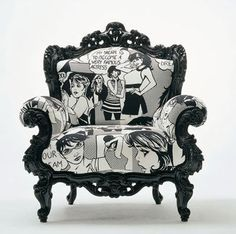 Pop Art Chair on imgfave....lovely.