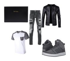 """Men's Outfits"" by lexidonovan123 on Polyvore featuring Philipp Plein, adidas, Paul Smith, men's fashion and menswear"