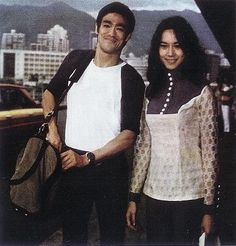 Bruce and Nora at Kai Tak Airport
