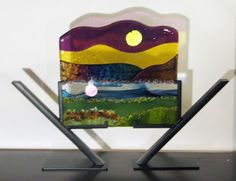 Purple Mountains Majestry Fused Glass Panel