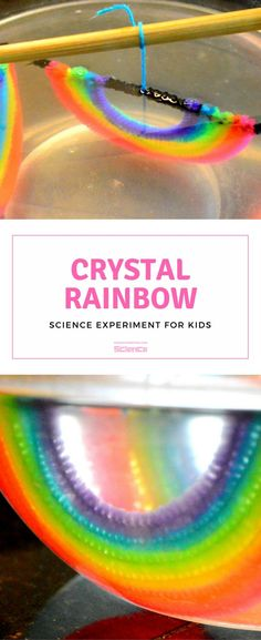 Crystal Rainbow Ornaments #CraftsForKids #ExperimentsForKids