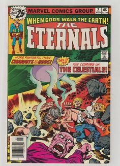 Eternals Vol 1 2 Bronze Age Comic Book. VF. by RubbersuitStudios ‪#‎eternals‬ ‪#‎jackkirby‬ ‪#‎comicbooks‬ ‪#‎etsy‬
