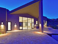 The dramatic entrance to One of the Most Striking Contemporary Pads ever built in Clearwater Hills Paradise Valley Just Hit the Market at $4.99M