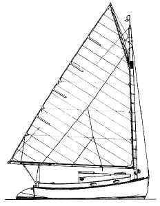 CAPE COD BAY A 19' Catboat for wood construction  Brewer / Wallstrom Design #49  Trying to decide between this and Madam Tirza Catboat...