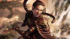 Samurai girl [ wallpaper Fantasy wallpapers