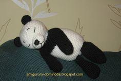 amigurumi tejer: panda amigurumi