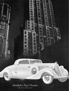 Studebaker Regal Roadster 1935 Skyscraper - Mad Men Art: The 1891-1970 Vintage Advertisement Art Collection