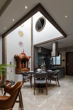 Bungalow Elevation is a Play Of Patterns and Textures Pooja Room Door Design, Home Room Design, Living Room Designs, Modern Bungalow Exterior, Pergola, Courtyard Design, Bungalow House Design, Pooja Rooms, Floor Design