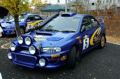 Subaru WRX Rally - love those lights! Wrc Subaru, Subaru Impreza Sport, Subaru Rally, Rally Car, Sport Cars, Race Cars, Japanese Cars, Nissan Skyline, Jdm Cars