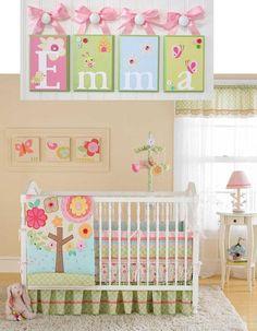 Name Blocks  Nursery Name Blocks  Nursery by OhMyButtonsAndBows, $16.00 This matches their bedding!