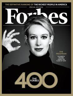 Portaba Forbes con imagen de Elisabeth Holmes