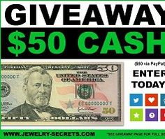 Jewelry Secrets Cash Giveaway #sweepstakes #giveaways #usafreebiesdaily