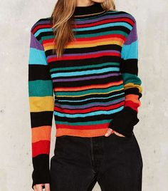 Time to pullover. Shop pullover sweaters, oversized sweaters, turtleneck sweaters and more at Nasty Gal. Mens Fashion Sweaters, Knit Fashion, Fashion Outfits, Pullover Outfit, Pullover Sweaters, Knit Sweaters, Girls Sweaters, Sweaters For Women, Look Retro