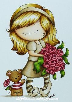 Skin/Haut: E0000, 000, 00, 11  Hair/Haare: E31, 33, 44, Y11, 21, YR23  Outfit: E40, 41, 43, 44, 47   Leaves/Blätter: YG03, 17, 67, 97  Flowers/Blumen: R43, 46, 59  Bear/Bär: E31, 33, 35, R20, 43, 46, 59, YG03, 17, 97  Ground/Boden: W0, 1, 3