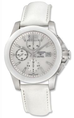 Longines Conquest Automatic Chronograph Steel  Ceramic Mens Watch Date L3.661.4.86.0