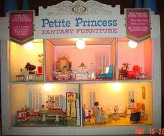 vintage doll furniture ideal little princess | Petite Princess Furniture by Ideal 1964