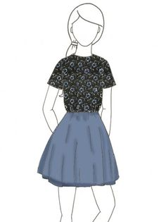 Support and turn this sketch into real product! Mina Blue by Amy He.