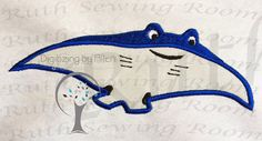 Finding Dory friend Mr Ray Applique Embroidery by RuthSewingRoom