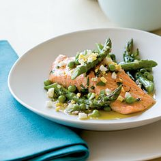 | Salmon with Spring Vegetables | CoastalLiving.com