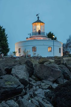 Enjoy stunning sea views whilst relaxing in the hot tub at the 3* West Usk Lighthouse, Newport.