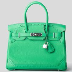 7c3c1261ba07 Hermes Birkin Bag 30cm Bamboo Ghillies Palladium Hardware