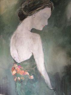 """ Beneath your beautiful""  100x140 cm Figure painting / Woman / Green"