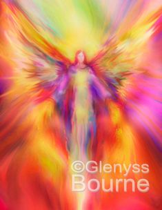 ARCHANGEL URIEL Guardian Angel Painting, Large Signed Giclee Print by Glenyss Bourne via Etsy