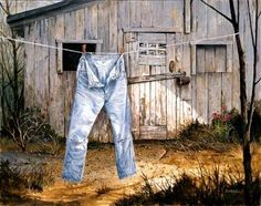 old jeans by Michael Humphries
