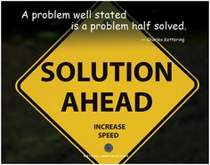 solving problems in life is a lot like solving word problems in school. We must first stop and clarify what the problem is really about. .