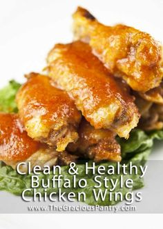 Clean Eating Buffalo Style Chicken Wings. Who knew they could be healthy???!