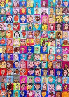 Self Portrait Collage on Canvas Art Project | Ziggity Zoom by lorene