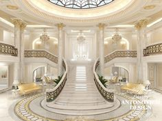 Dubai Interior Design Gallery by Luxury Antonovich Design Mansion Interior, Dream House Interior, Luxury Homes Dream Houses, Luxury House Plans, Dream Home Design, Luxury Homes Interior, Luxury Home Decor, Modern House Design, Design Entrée