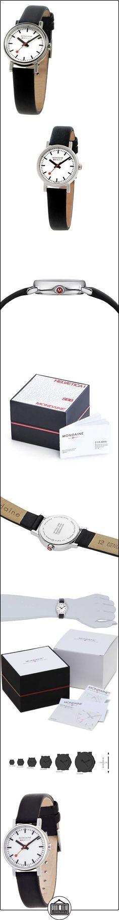 Mondaine SBB Evo 26mm A658.30301.11SBB Reloj de pulsera Cuarzo Mujer correa de Cuero Negro  ✿ Relojes para mujer - (Gama media/alta) ✿