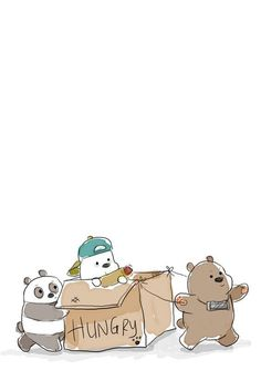We bear bears Cute Disney Wallpaper, Kawaii Wallpaper, Cute Wallpaper Backgrounds, Wallpaper Iphone Cute, We Bare Bears Wallpapers, Panda Wallpapers, Cute Cartoon Wallpapers, Cute Drawings, Animal Drawings