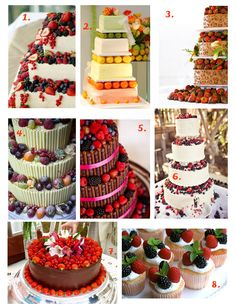 Fancy something a little different from the usual multi-tiered white cake? Then take a look at these stunning fruit wedding cakes.