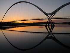 Infinity Bridge, Stockton-on-Tees, England.  Paul Downing