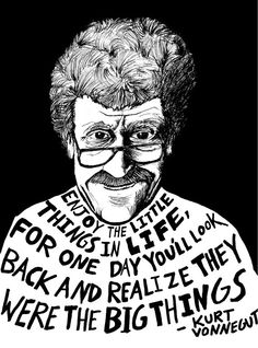 Kurt Vonnegut Authors Series by Ryan Sheffield by ryansheffield, $15.00. I should buy this and hang it in Kurt's room...
