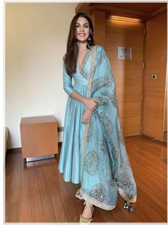 Shop the best in luxury Indian fashion. Get ready for the wedding season with the choicest designer wear collections. Anarkali Dress, Pakistani Dresses, Salwar Kurta, Anarkali Suits, Lehenga, Sarees, Indian Attire, Indian Ethnic Wear, Ethnic Suit