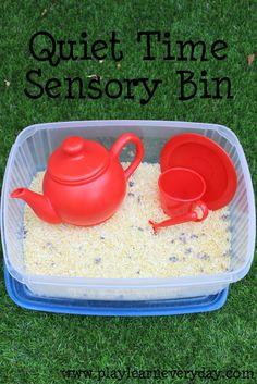 Quiet Time Sensory Bin