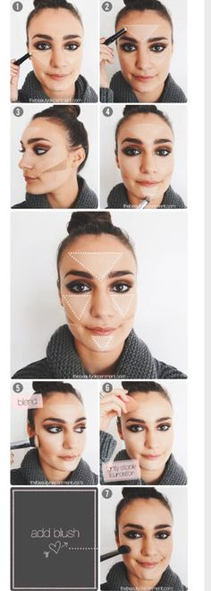 6 triangles to contour highlight