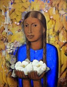 forma es vacío, vacío es forma: Alfredo Ramos Martínez - pintura. La Niña de las Flores Blancas