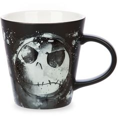 The Nightmare Before Christmas Jack Skellington Mug ($7.30) ❤ liked on Polyvore featuring home, kitchen & dining, drinkware, drinks, jack skellington mug, xmas mugs, christmas mugs and christmas drinkware