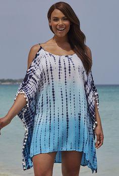 swimsuitsforall Harbor Slit Shoulder Dress